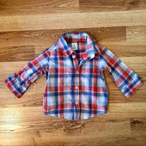 Carter's Checkered Long Sleeve Button Down Shirt